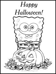 Spongebob Halloween Coloring Pages 7