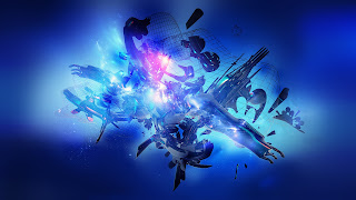 New HD Blue Abstract 1080p Wallpaper