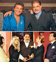 Juan Luis Galiardo y Sancho Gracia en la serie Puerta con puerta
