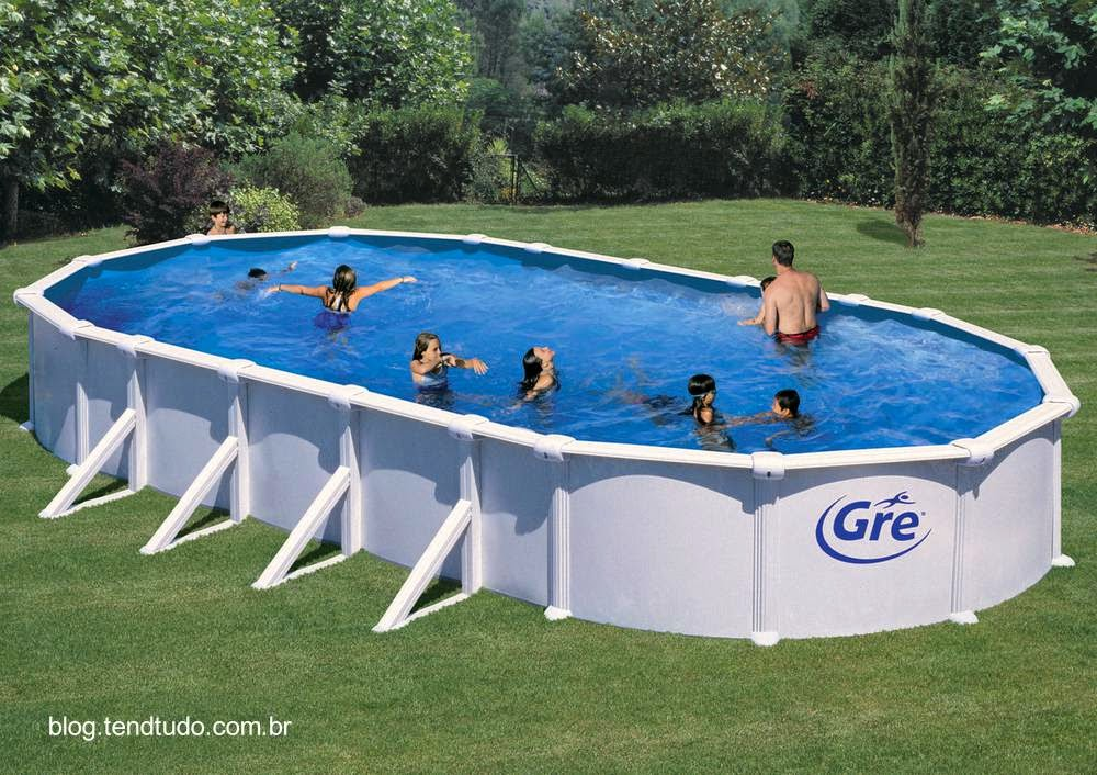 Arquitectura de casas distintos tipos de piscinas for Piscinas de plastico para jardin