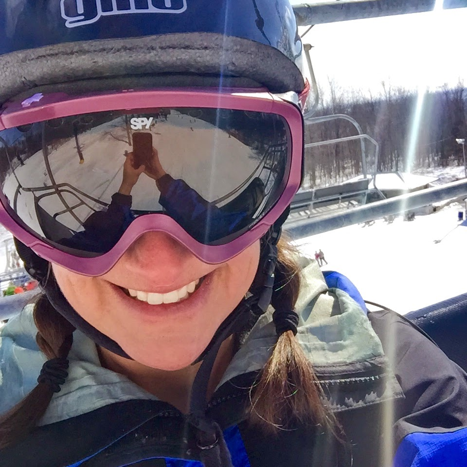 Ski lift selfie Jen Lara