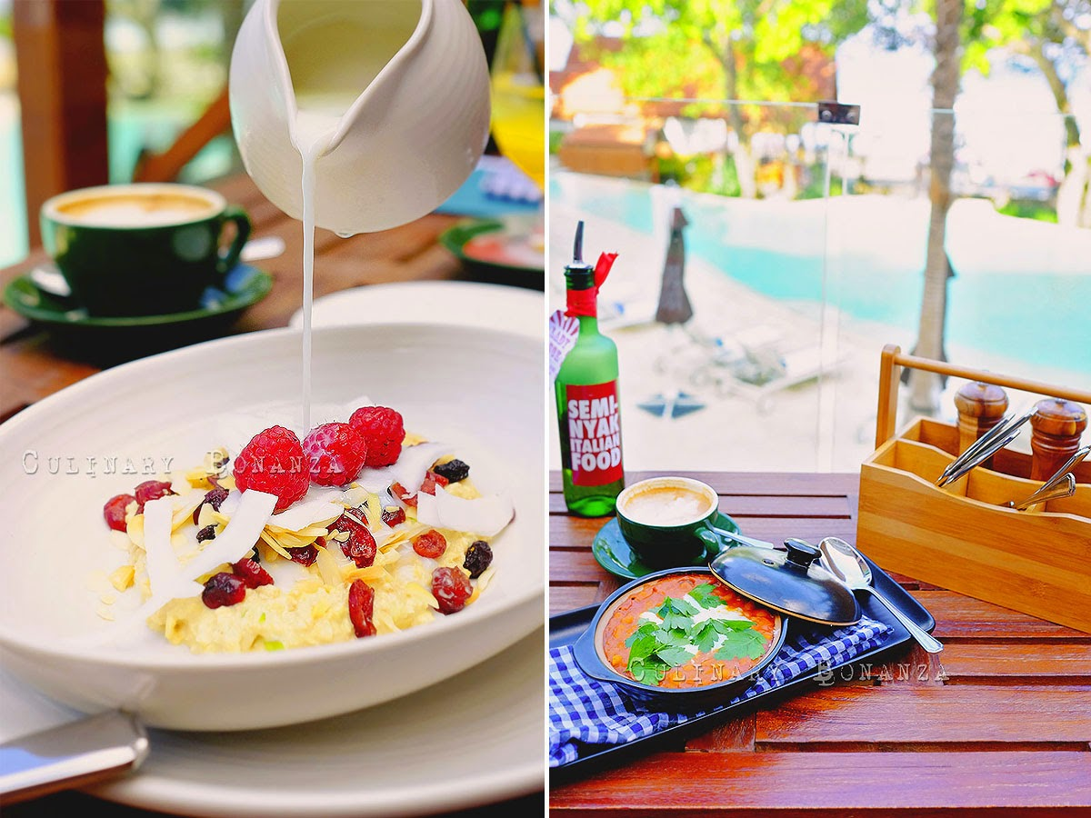 Bircher Muesli and breakfast at Seminyak Italian