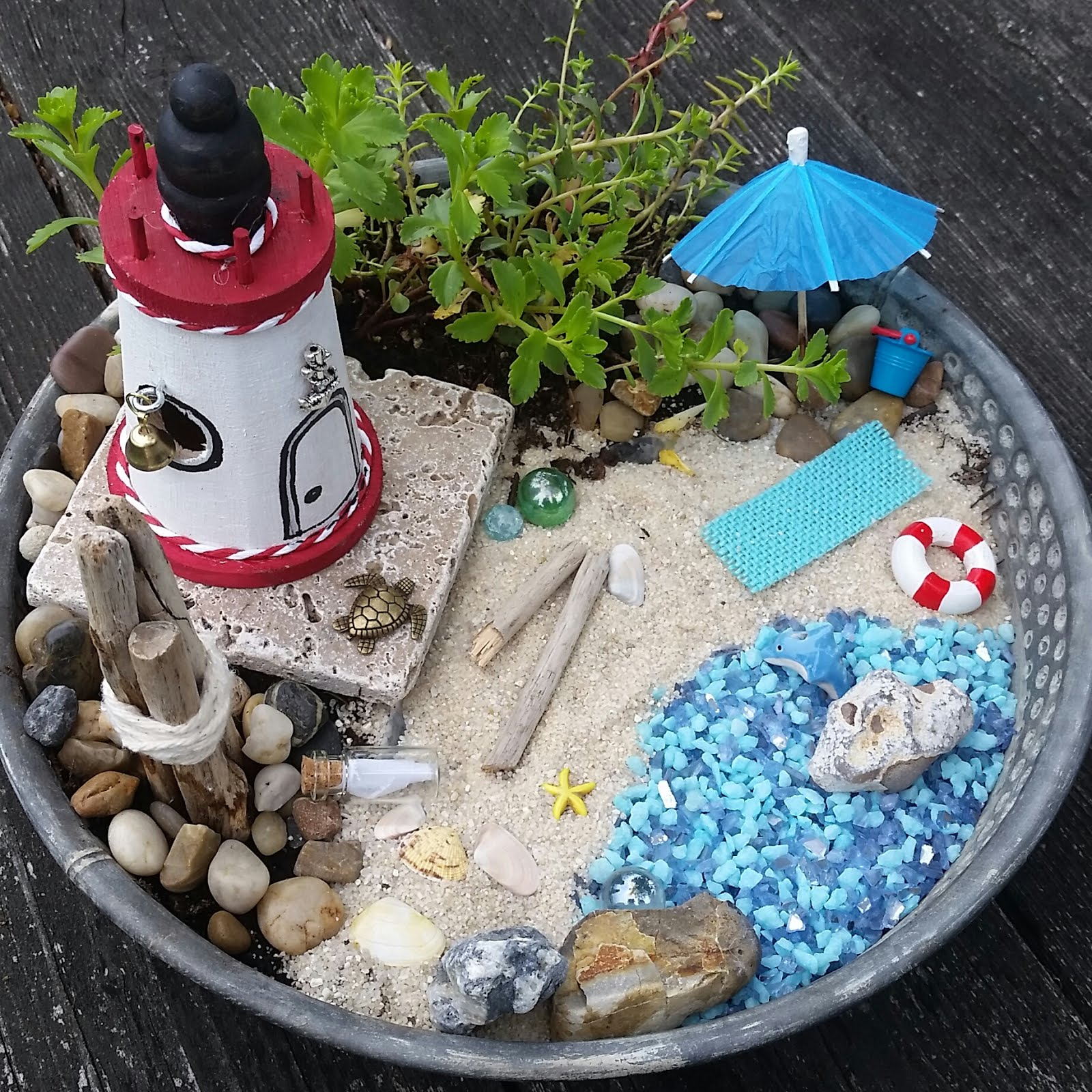BEACH THEME FAIRY GARDEN