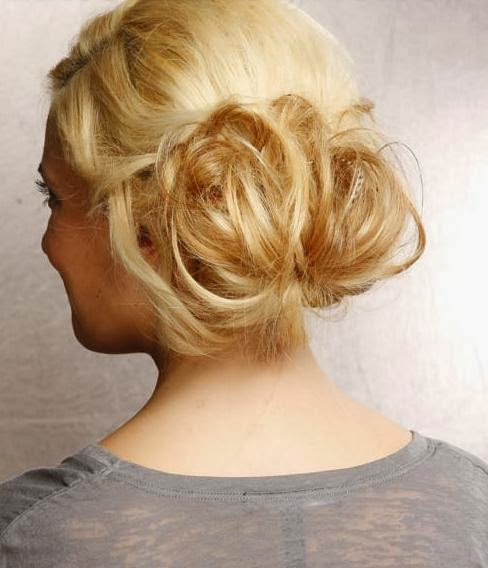latest hair bun style loose hair bun waterfall braid bun stylish bun