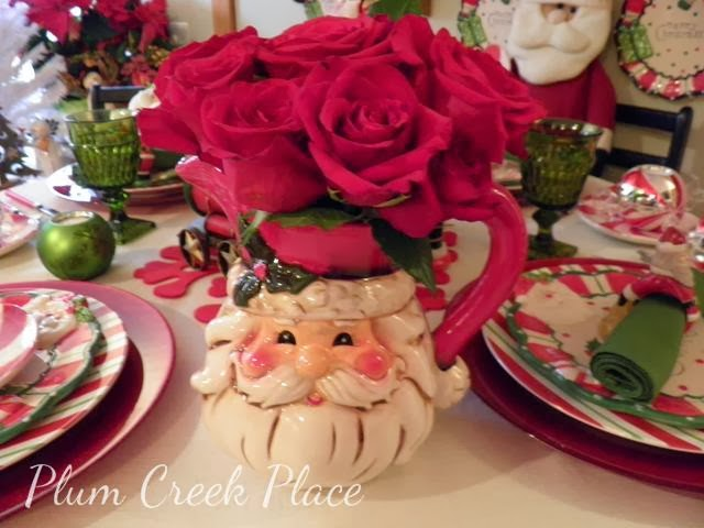 Christmas centerpiece, Christmas tablescape