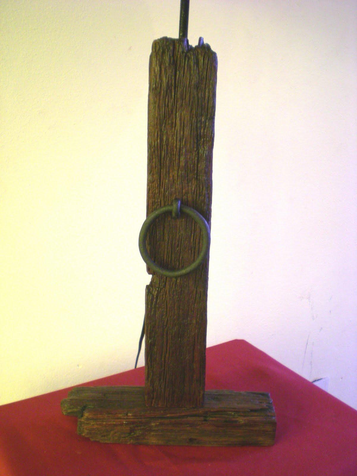 El fog n artesan as en madera r stica y hierro uruguay - Lamparas rusticas de madera ...