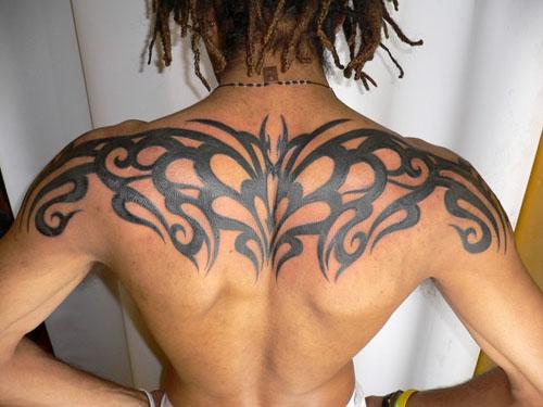 Suficiente Tribal nas costas | Brown Black Uniqx Template GF63