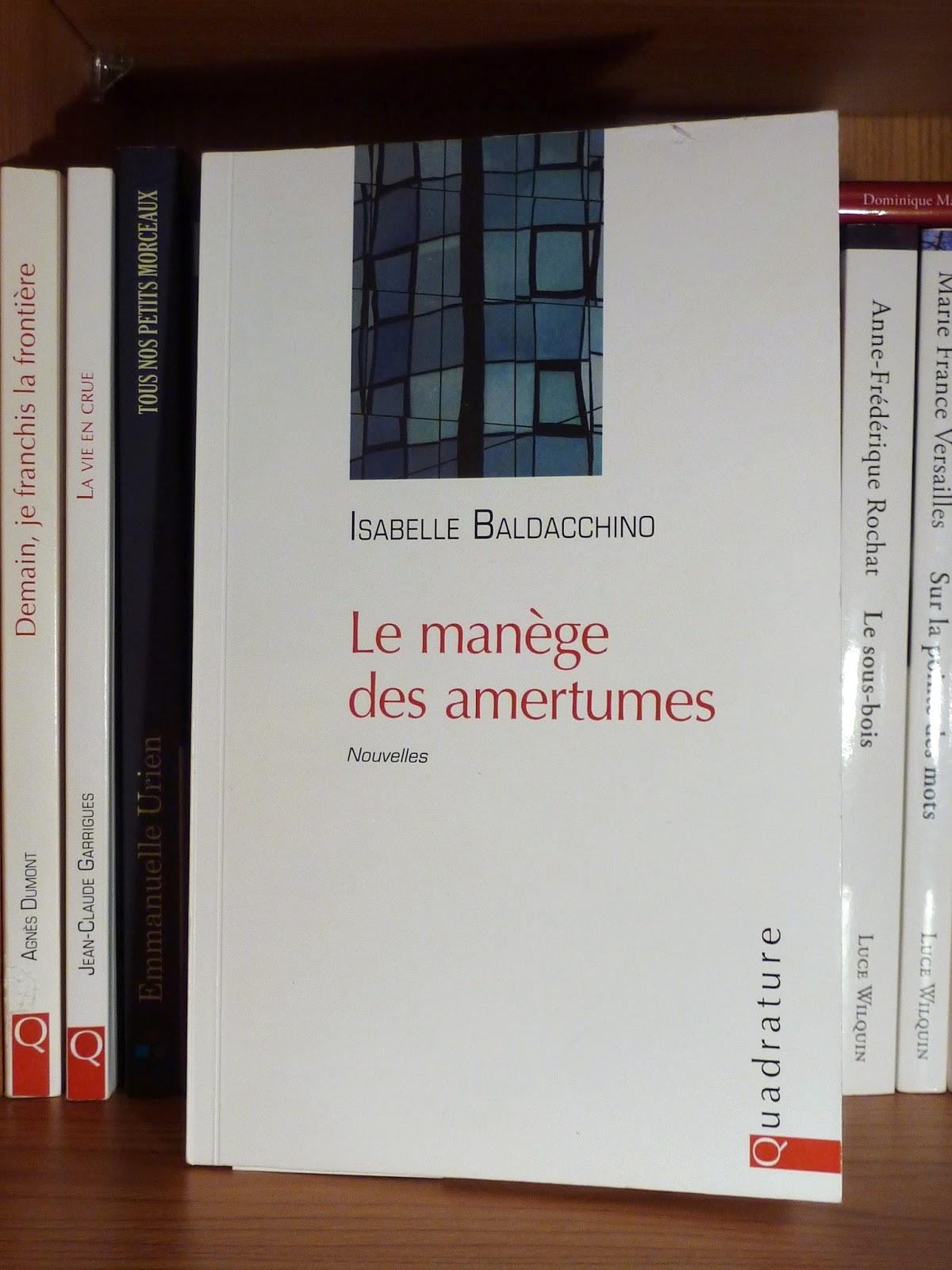 Le manège des amertumes - Isabelle Baldacchino