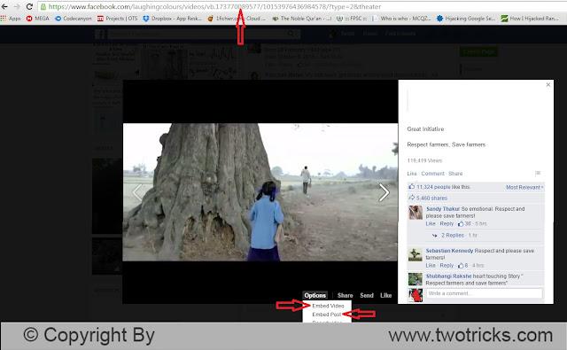 facebook video Embed Tutorial