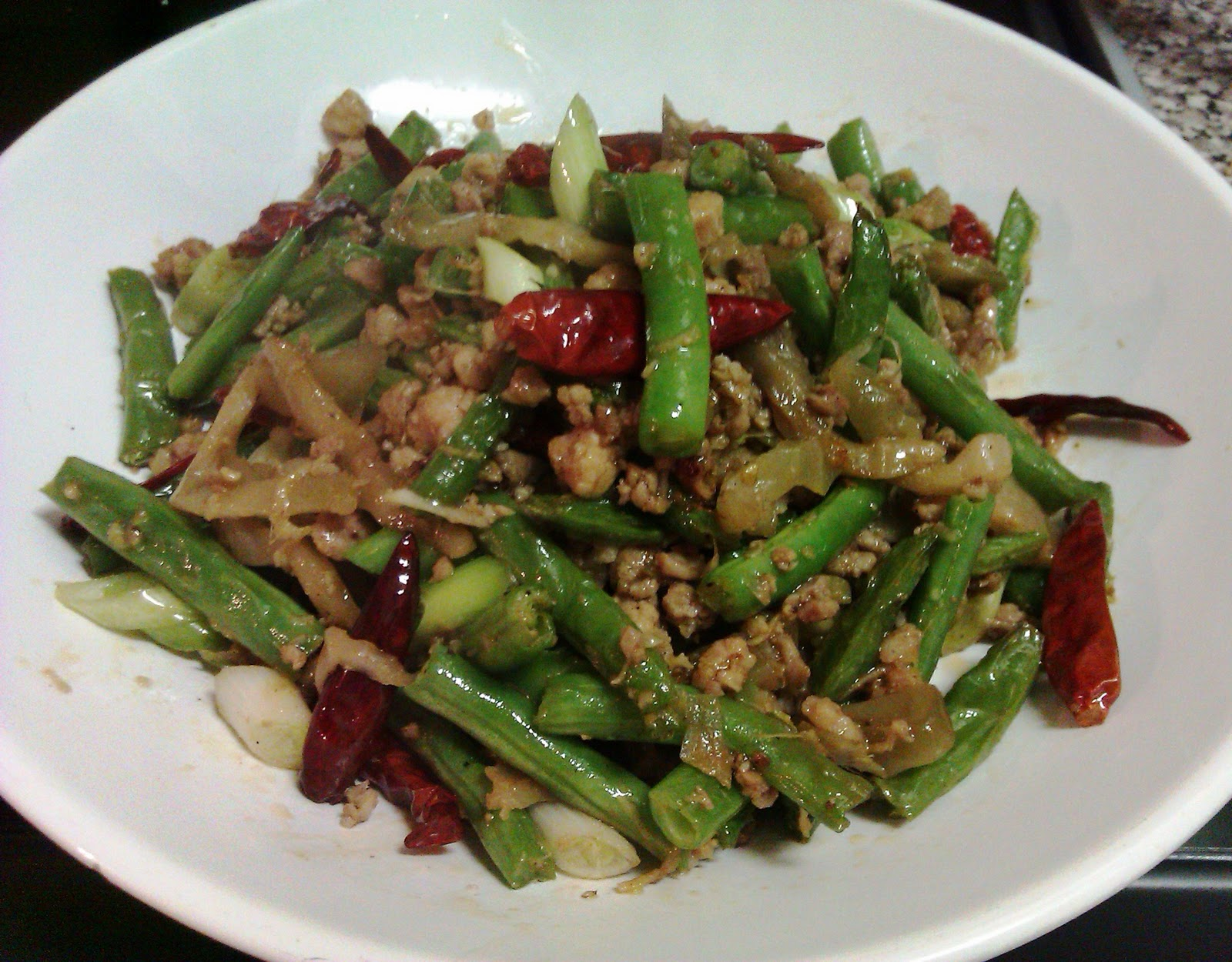 green beans fresh green beans one way sichuan chicken with green beans ...