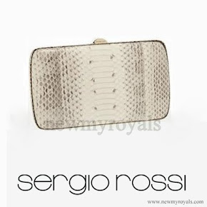 Queen Maxima style SERGIO ROSSI Clutch Bag