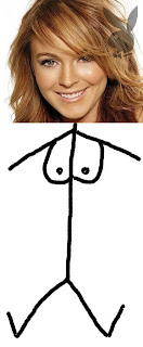 Lindsay Lohan naked in playboy - an artists impression