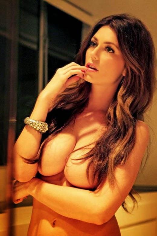 hands covering big tits