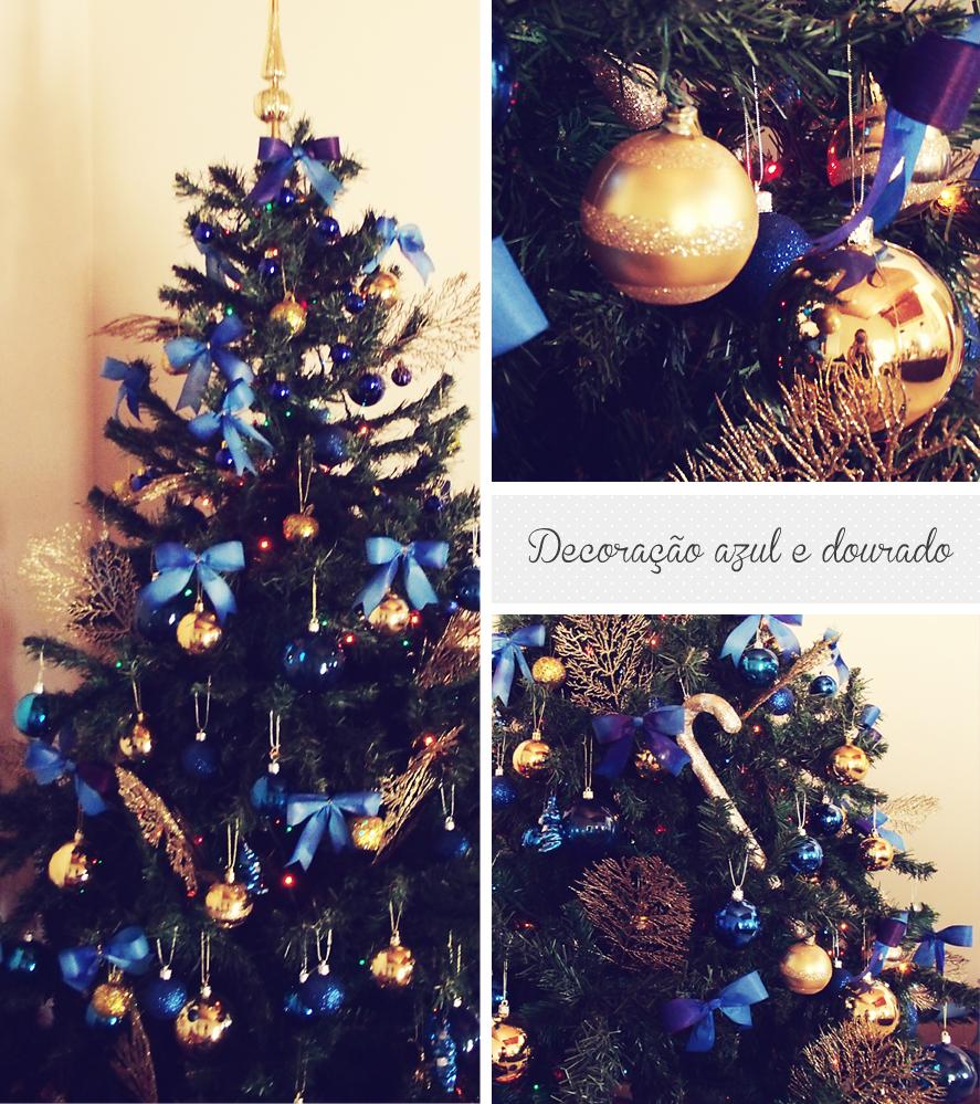 decoracao de arvore de natal azul e dourado : decoracao de arvore de natal azul e dourado:Inspire-se: Decorações Natalinas!