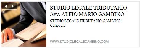 STUDIO LEGALE TRIBUTARIO AVV. GAMBINO ALFIO