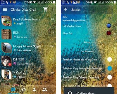 BBM Mod Droid Chat! v4.7.12 Transparan