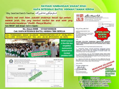 Poster Rayuan Wakaf Khas