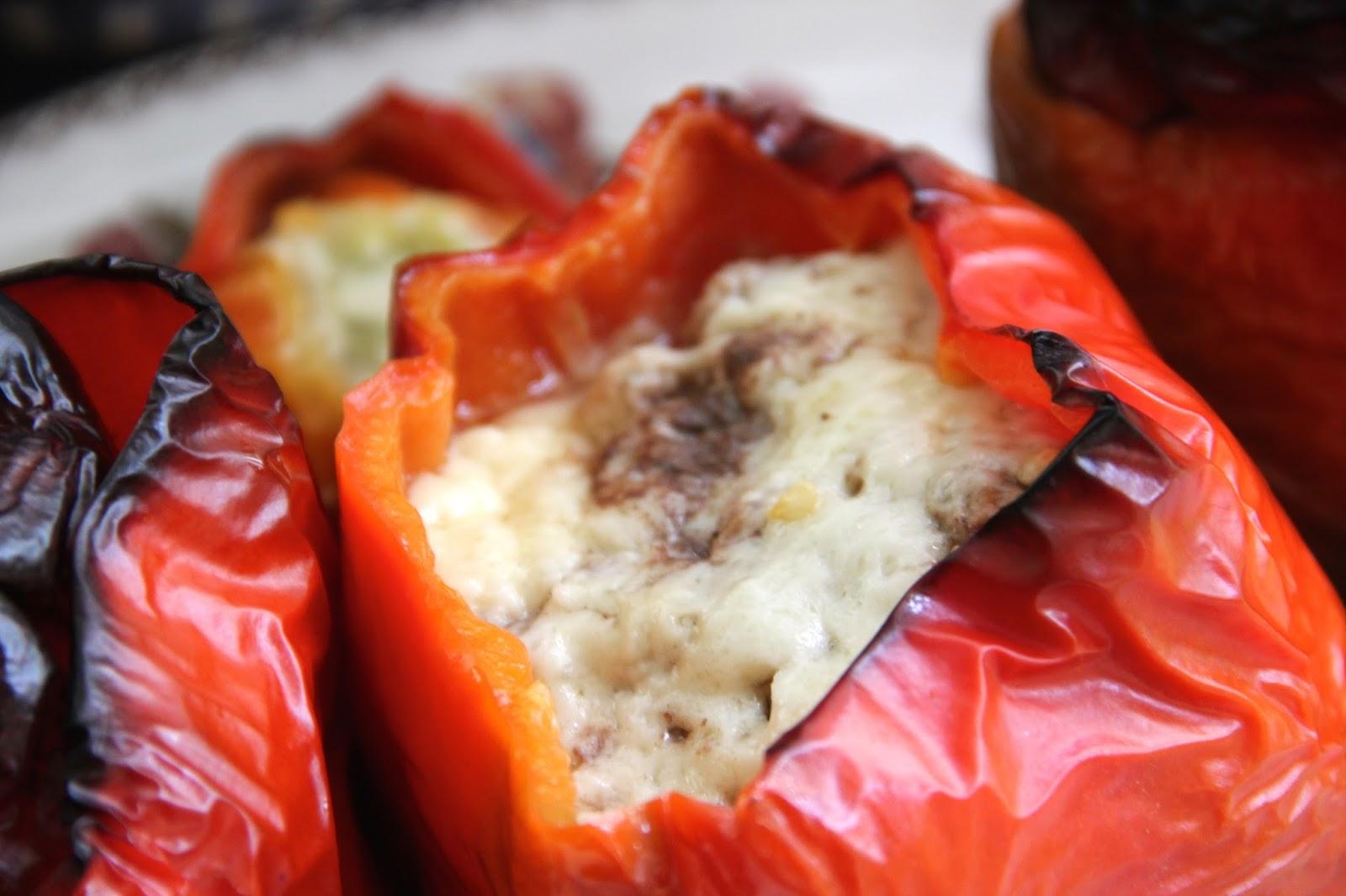Cocinar es vivir y bordar tambi n pimientos rellenos de for Cocinar a 90 grados