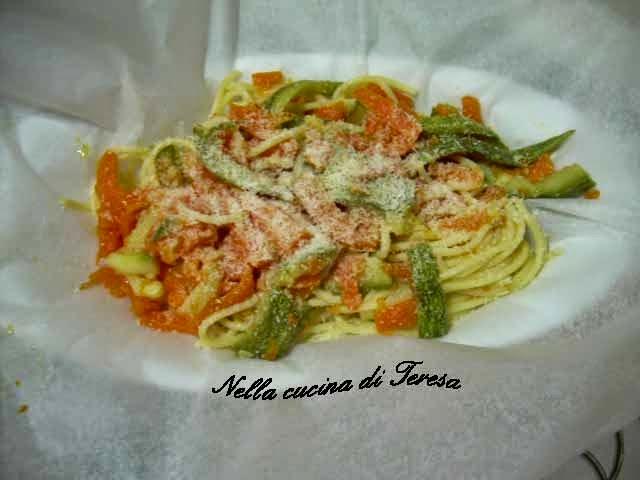 Nella cucina di teresa spaghetti al cartoccio - Nella cucina di teresa ...