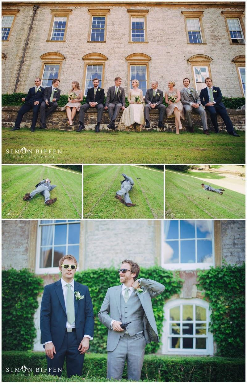 Wedding party frivolity at Ston Easton