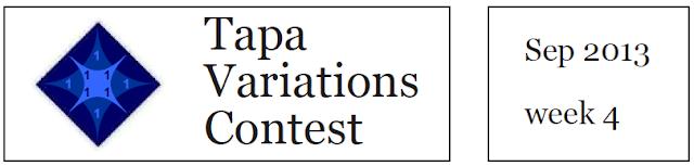 Tapa Variation Contest XVI on 28 - 30 Sept 2013