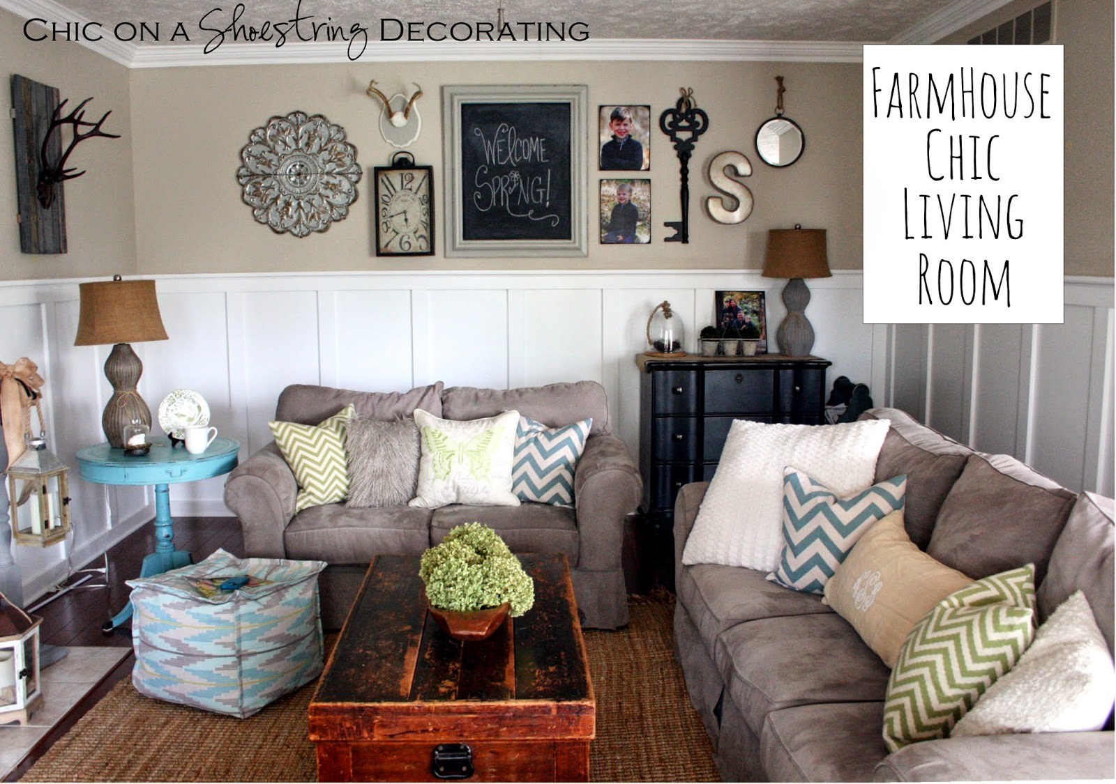 Chic on a shoestring decorating flaunt it friday 206 for Decorate my living room