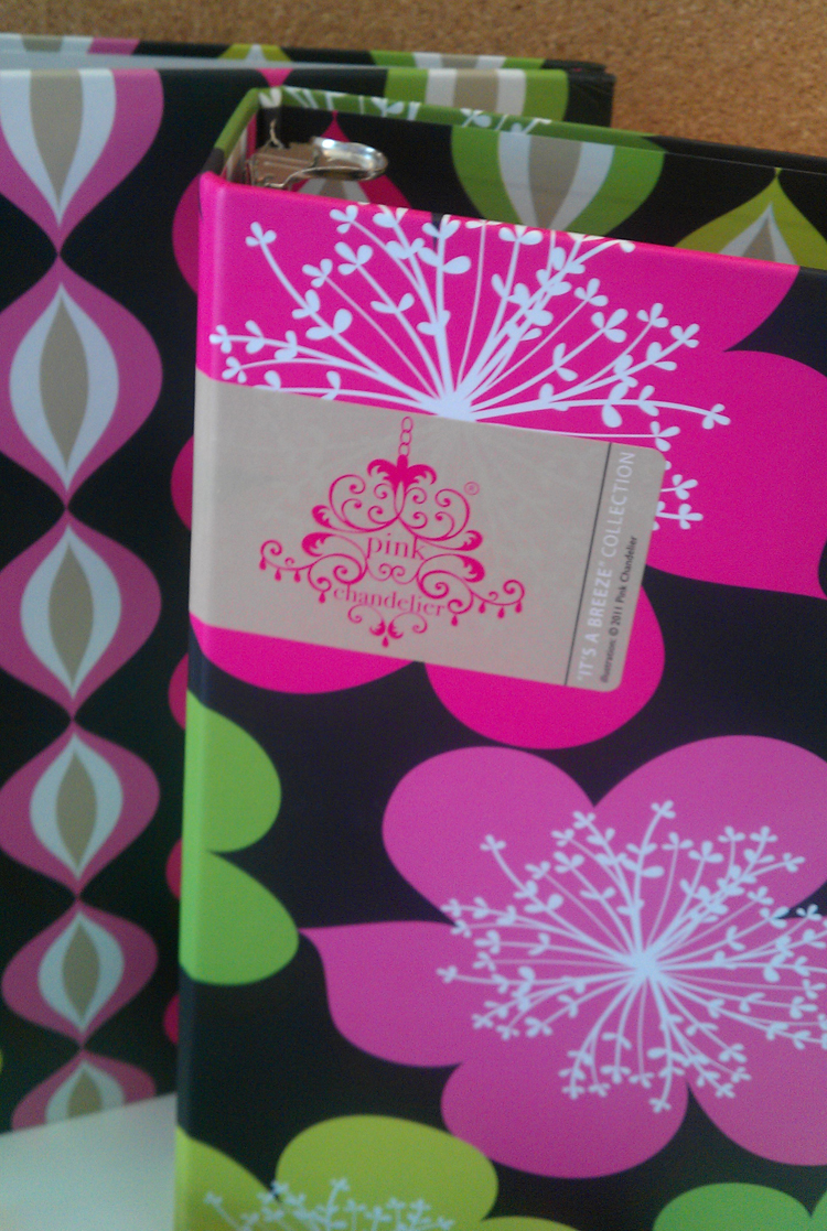 Pink happy thoughts always class act products launch with pink pink chandelier branding on its a breeze binder arubaitofo Image collections