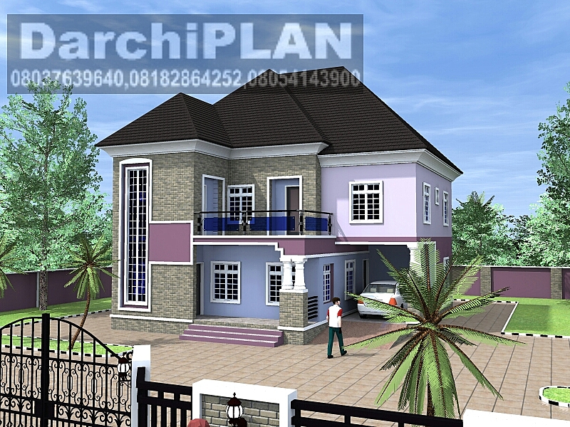 Nigeria building style architectural designs by darchiplan for 5 bedroom new build homes
