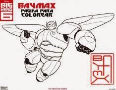 Baymax Página para Colorear