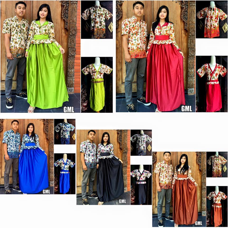 Baju Batik Gamis Keluarga Terbaru Gml