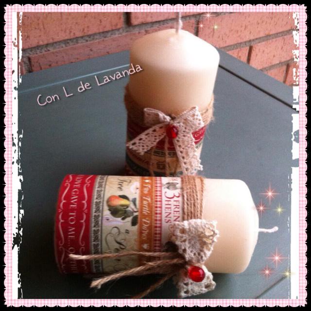 Puntilla blanca aprender manualidades es - Velas decoradas para navidad ...