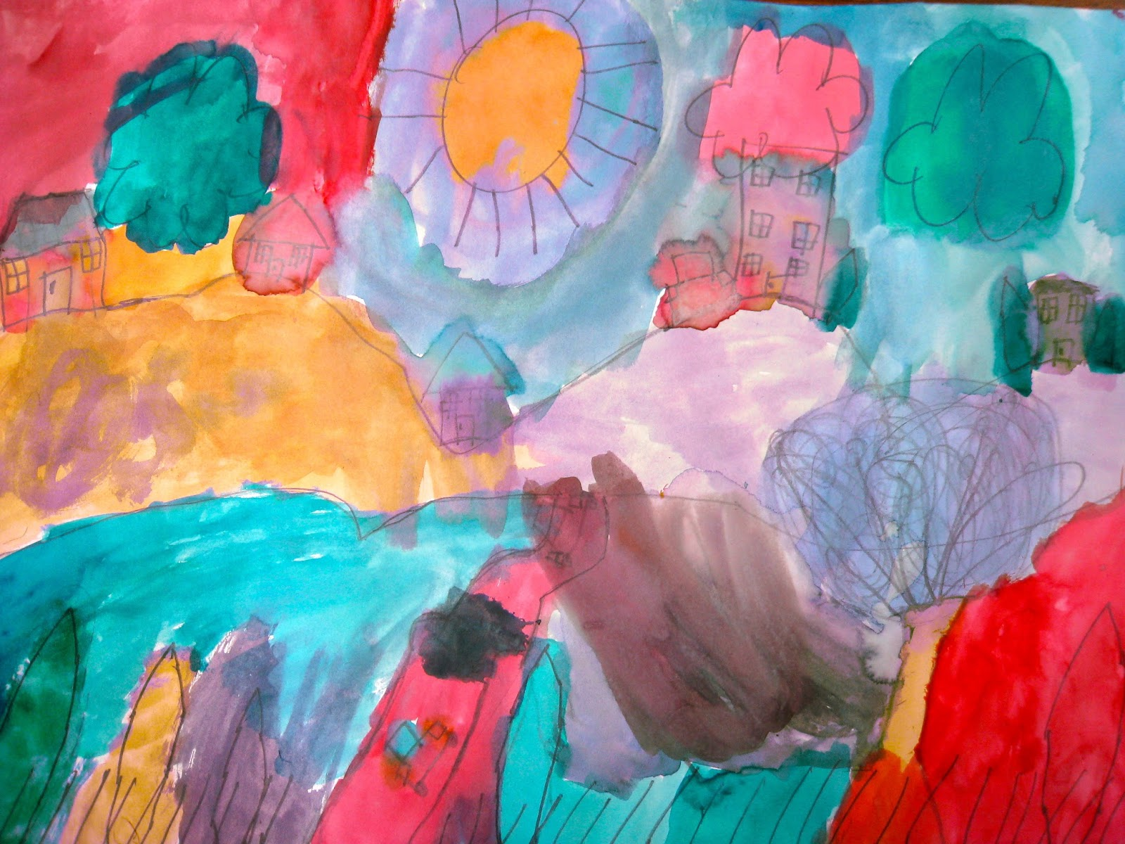 Ps77 brooklyn art news fall fauvism for Bright vibrant colors