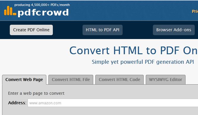 تحويل صفحات المواقع إلى pd