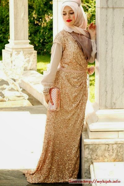Hijab mode soirée