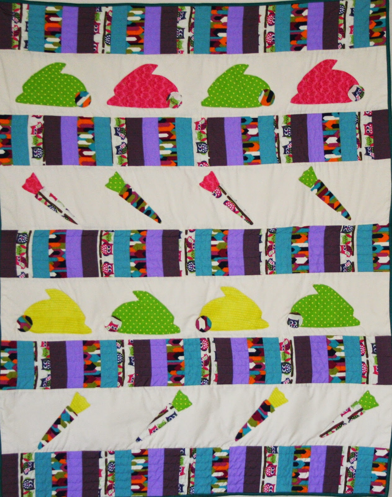 Quiltsmart Bunnies and Carrots quilt