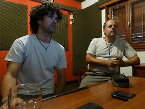 Con Matías, mezclando el disco
