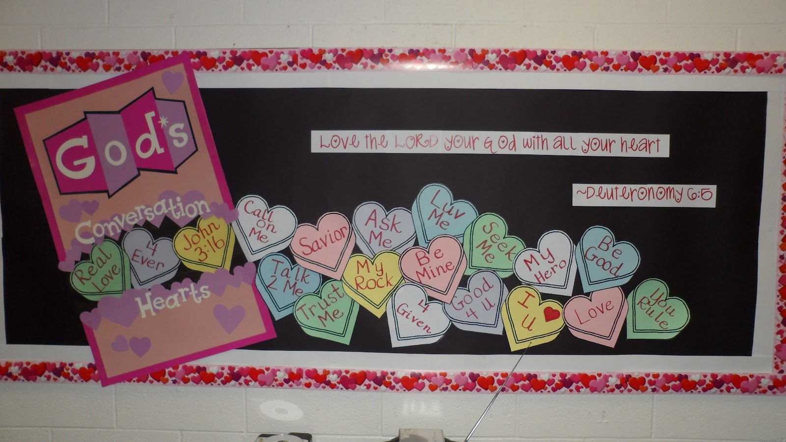 ... and wrote all of the hearts by hand! So cute for Valentine's Day