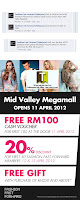 Fashion Fast Forward FREE 100 Cash Voucher Mid Valley Megamall & Reopening Promo