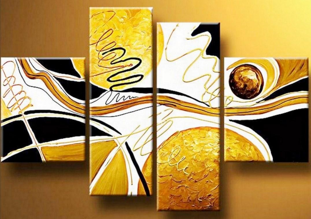 Pinturas cuadros lienzos cuadros abstractos modernos - Cuadros modernos para living ...