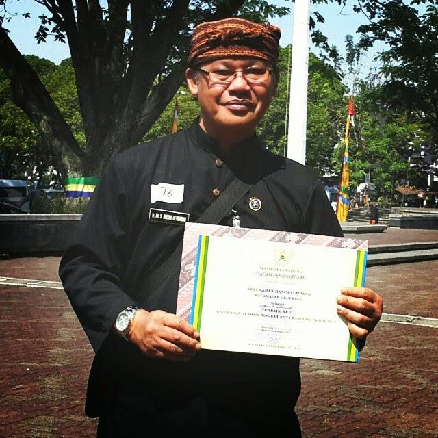Hari Jadi ke-204 Tahun Kota Bandung, Lurah Rancanumpang Terima Penghargaan