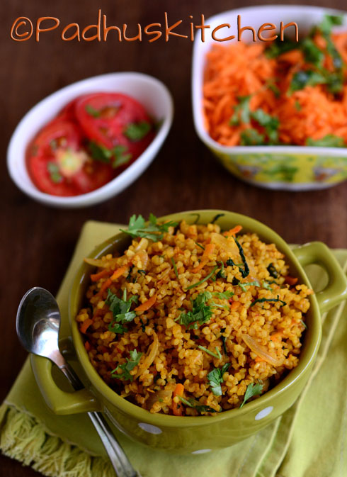 Bulgur Biryani-Easy Indian Vegetarian Bulgur Recipe