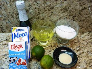 ingredientes musse de limão com espumante