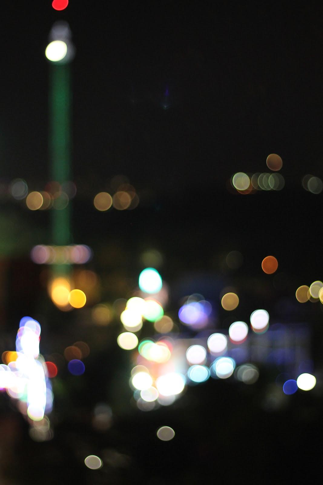 funfair at night bokeh