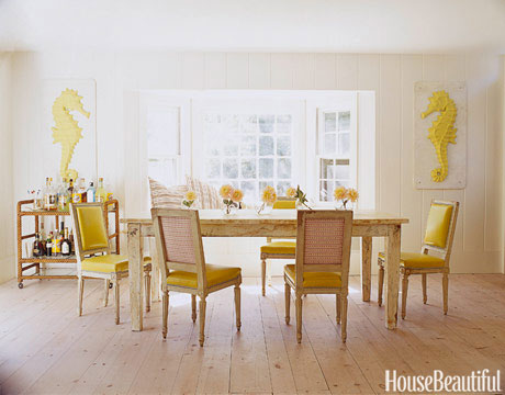 Yellow Seahorse Dining Room