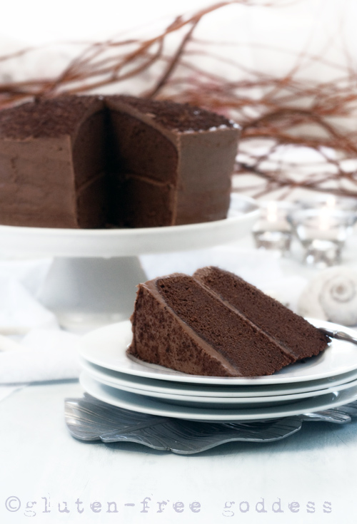 Gluten-Free Chocolate Layer Cake (dairy-free) from Gluten-Free Goddess