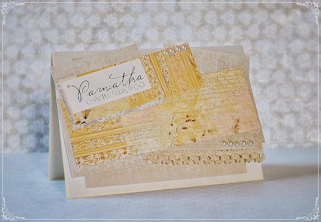 kartka chrzest święty scrapbooking