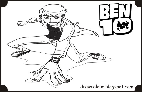 printable-ben-10-pose-coloring-pages