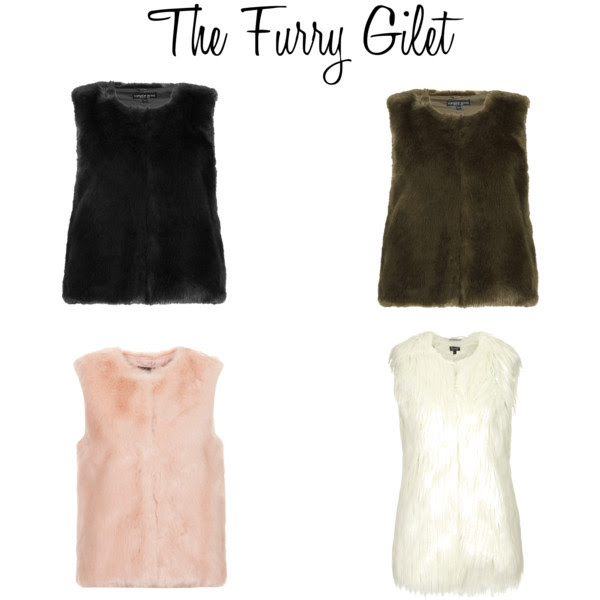 Furry gilet for autumn / winter