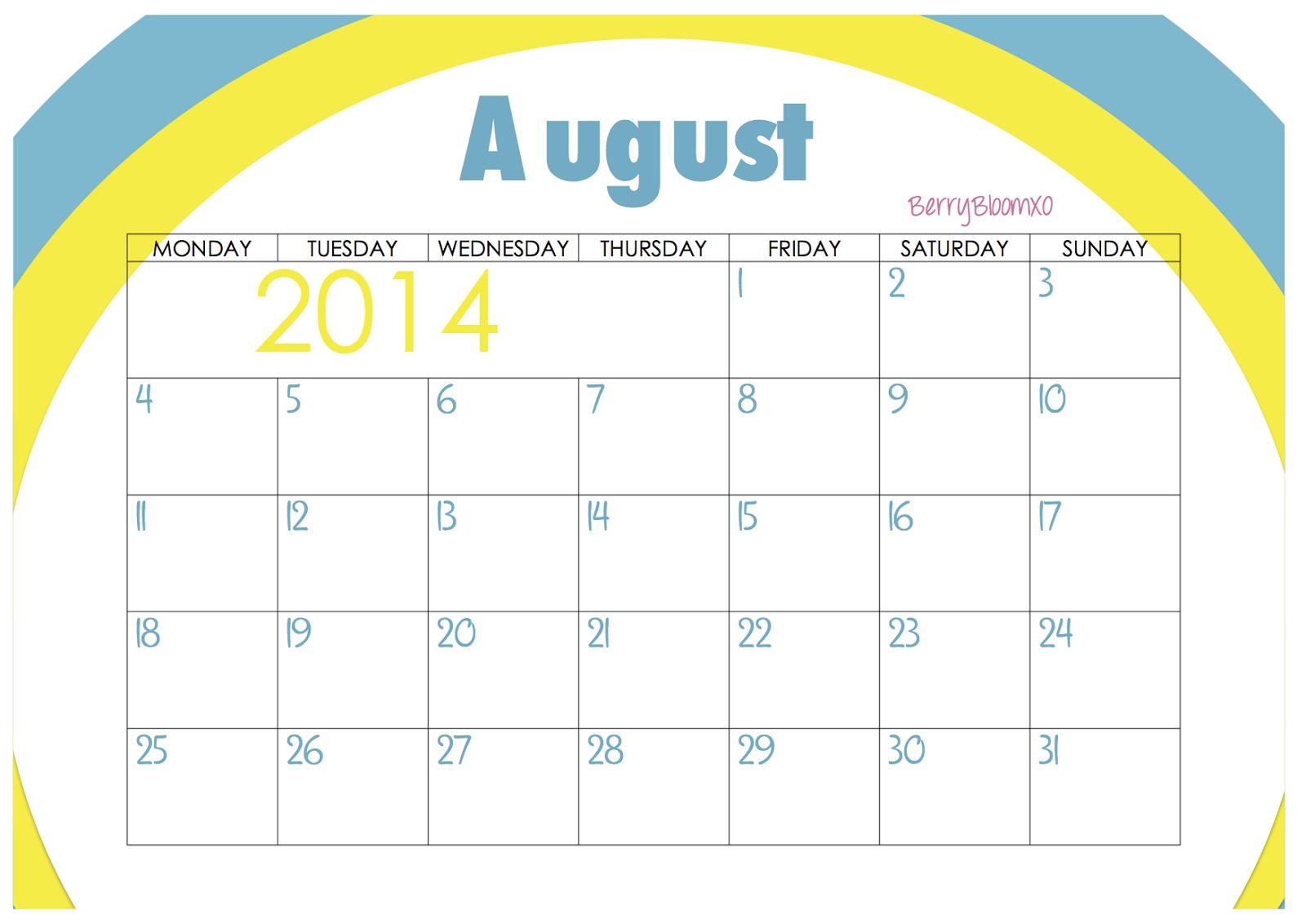 Free Printable Calendar August 2014 August 2014 calendar - free