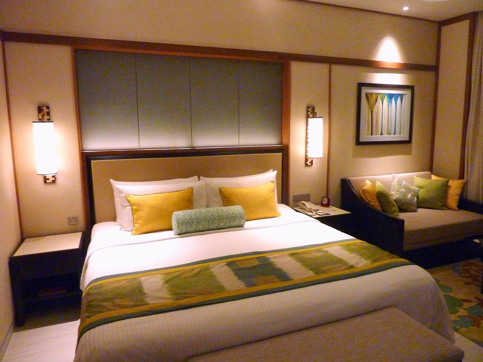 Cozy bedroom at night -  King Sized Bed Or Two Single Beds There Is A Nice Couch Which Doubles As A Cozy Bed For An Extra Guest The Room Rate Is Approximately Rm900 Per Night